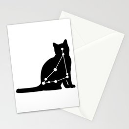 capricorn cat Stationery Cards