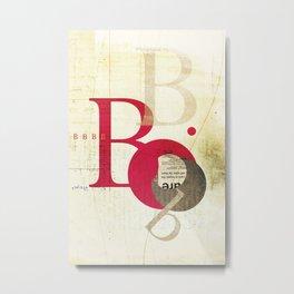 Perpetua B Metal Print