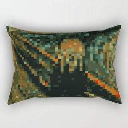 The Pixel Scream Rectangular Pillow