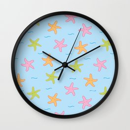 Dancing Starfish // Light Blue Wall Clock