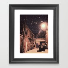 Blizzard At Photography Studio Framed Art Print