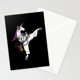 Ninja Unicorn Karate Martial Arts Stationery Cards