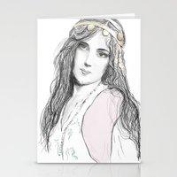 boho Stationery Cards featuring Boho by Lyndsey Ferguson