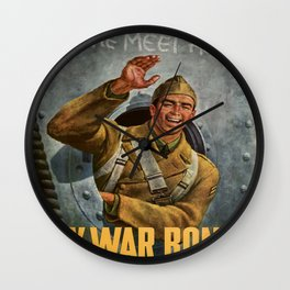 Vintage poster - Buy War Bonds Wall Clock