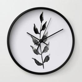 Baesic Mono Floral (Leaf 2) Wall Clock