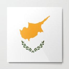 Flag of Cyprus Metal Print