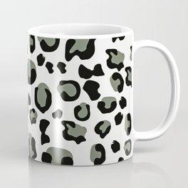 Drunken Cheetah - Black White Green Pastel Coffee Mug