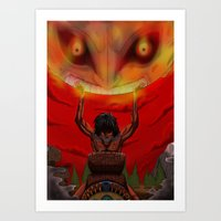 majora Art Prints featuring attack on majora! by fangterry