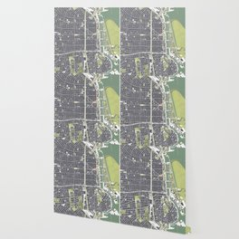 Buenos aires city map engraving Wallpaper