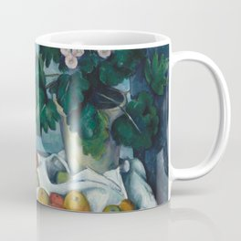 Paul Cézanne - Still Life with Apples and a Pot of Primroses (1890) Coffee Mug