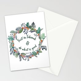 Trust in Jehovah and Do What is Good Wreath Stationery Cards