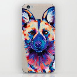 Painted Hunting Dog / African wild dog iPhone Skin