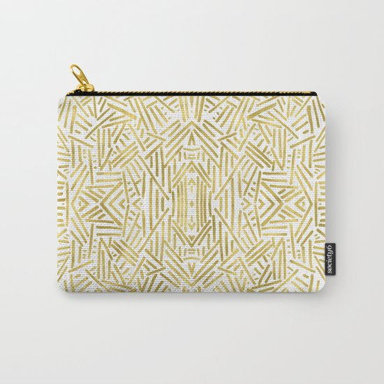 Radiate - Gold Carry-All Pouch