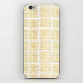 Luxe Gold Criss Cross Weave Hand Drawn Vector Pattern Background iPhone Skin