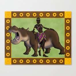 The Reth and the Hippo Canvas Print