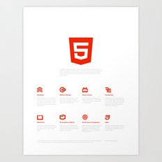 HTML5 Brand Launch Art Print