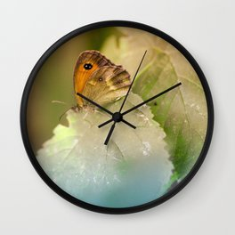 Colorfull summer butterfly Wall Clock