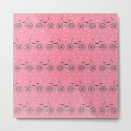 Bicycles pattern Metal Print