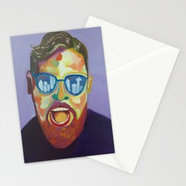 Screaming man Stationery Cards