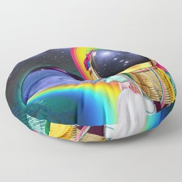 Rainbow Space Floor Pillow