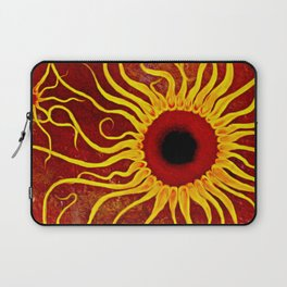 Psychedelic Susan 002, Sunflowers Laptop Sleeve