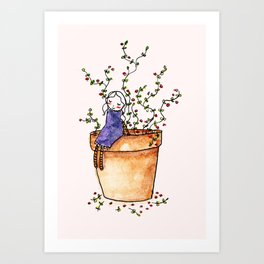 Tiny girl  Art Print