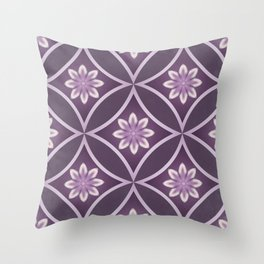 Diamonds and Flowers Throw Pillow
