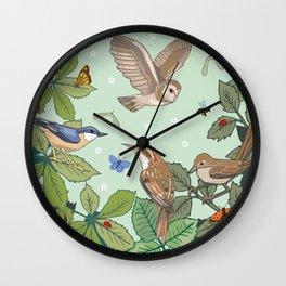 Woodland Birds Wall Clock