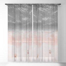 Zuma Beach Malibu Sheer Curtain