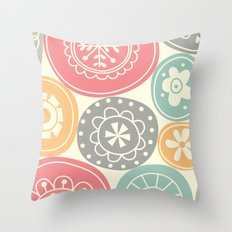Candy Circles Throw Pillow