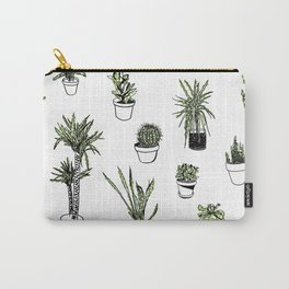 Plant Wall Succulent Pattern Carry-All Pouch