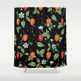 naughty habanero Shower Curtain