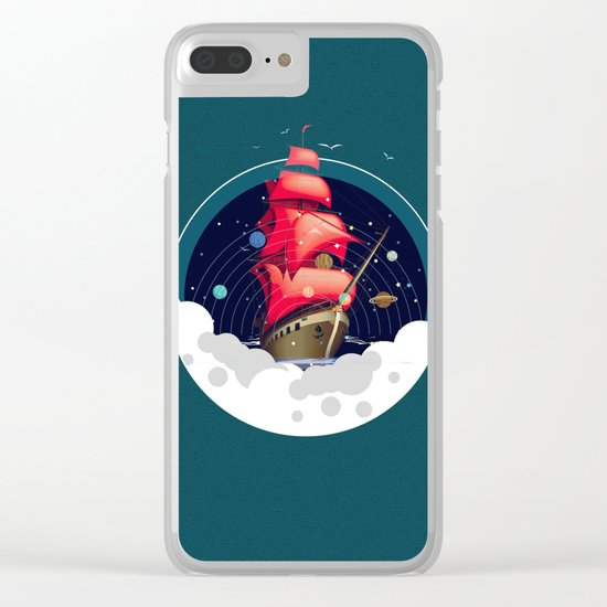 Spaceship Clear iPhone Case