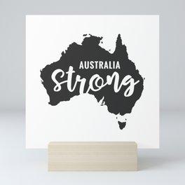 Australia Strong, Australian bush fires Mini Art Print