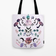 Midnight Mushrooms Tote Bag