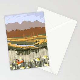 Spring Meadow View Poster Stationery Cards