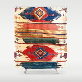 Aksaray Antique Cappadocian Turkish Kilim Print Shower Curtain