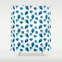 diamonds Shower Curtains featuring diamonds by Sil Elorduy