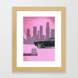 Driver Minimalist Framed Art Print