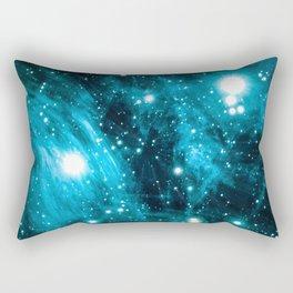 Blue Eyes in Space Rectangular Pillow