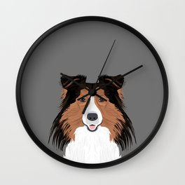Jordan - Shetland Sheep Dog gifts for sheltie owners and dog people gift ideas perfect dog gifts Wall Clock