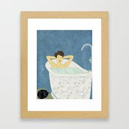 Bathtub Scene Framed Art Print