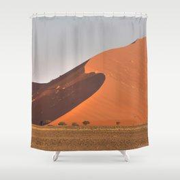 The red sand dunes of Sossusvlei desert, Namibia Shower Curtain