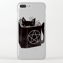 Witchcraft Cat Clear iPhone Case
