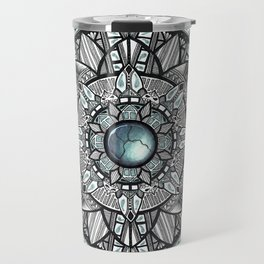 Charcoal Geometric Mandala Travel Mug