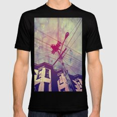 Wires Black MEDIUM Mens Fitted Tee