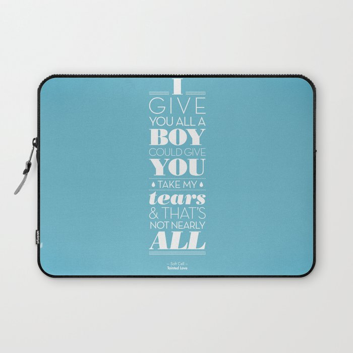 One Hit Wonder- Tainted Love in Teardrop Blue Laptop Sleeve