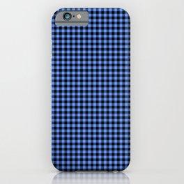 Mini Black and Sky Blue Cowboy Buffalo Check iPhone Case
