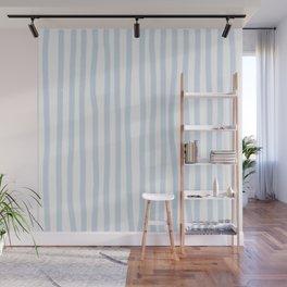 Light Blue Stripes Wall Mural