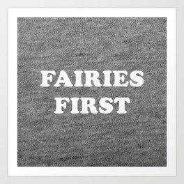 Fairies first Art Print